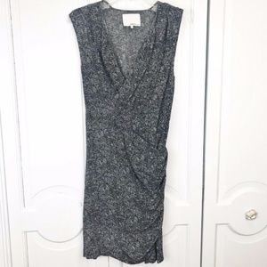 Phillip Lim dress printed silk ruched wrap size 8